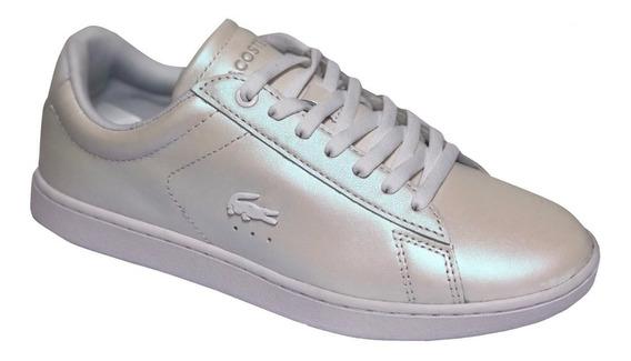 Zapatillas Lacoste Carnaby Evo 318 Mujer - Perlado