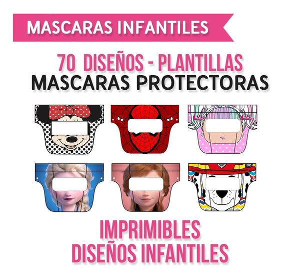 Mascara Protector Facial Infantil - Diseños Imprimible