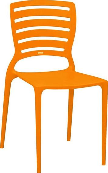 Cadeira Sofia Encosto Vazado Hz Laranja