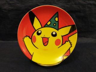 Pikachu Mini Plato Pokemon Center Christmas 2001 Nueva York