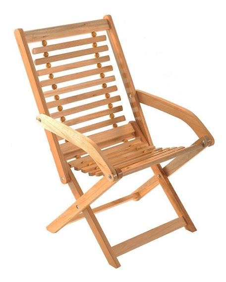Cadeira De Areá Ripada Dobrável