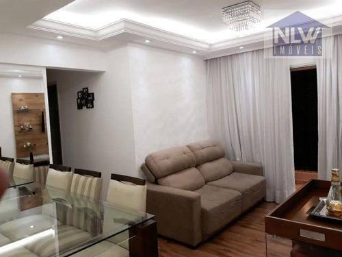 Apartamento Com 3 Dormitórios À Venda, 64 M² Por R$ 365.000,00 - Vila Ema - São Paulo/sp - Ap1837