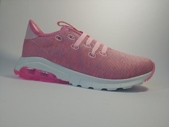 Tenis De Mujer Rosa Con Combinación De Colores, Diseño Nuevo