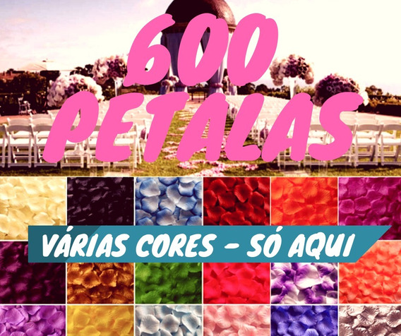 600 Pétalas Rosas Flor Artificiais Seda Várias Cores Decora