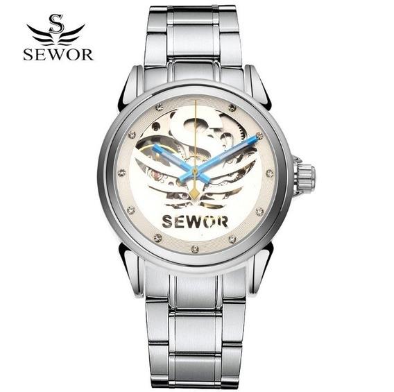 Relógio Masculino Automático Mecânico Sewor Homens Elegante