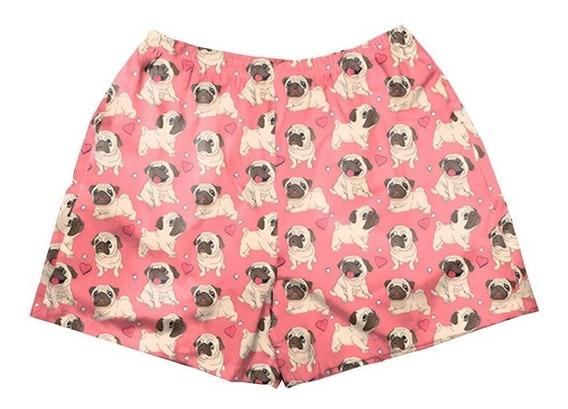 Cueca Samba Canção Unissex Pug Tumblr Cachorro Animal Fofo