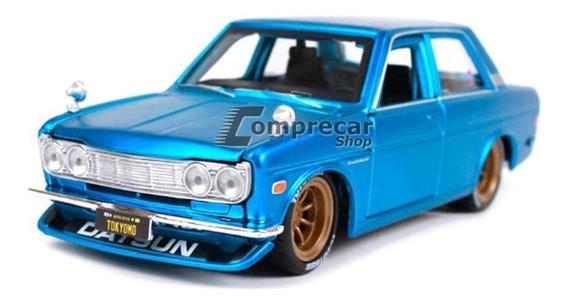 Miniatura Datsun 510 1971 Azul Maisto 1/24