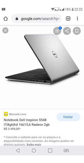 Dell Inspiron 5548 I7 Touch