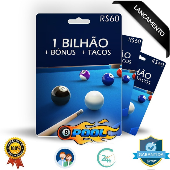 8 Ball Pool Fichas 1 Bilhão + Super Brinde + Tacos