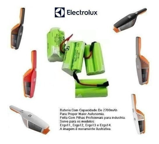 Bateria Aspirador Electrolux Ergo11 Ergo12 Ergo13 Ergo14 12v