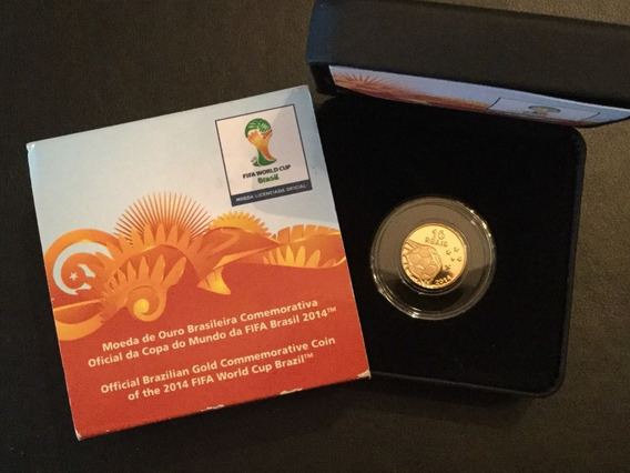 Brasil - Moeda Comemorativa De Ouro Copa Do Mundo Fifa 2014