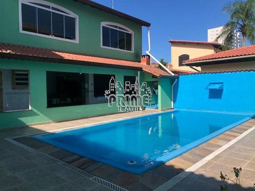 Casa, 4 Dorms Com 372 M² - Balneario Florida - Praia Grande - Ref.: Pr1587 - Pr1587