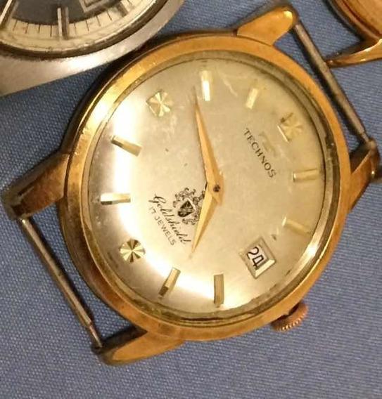 Technos Goldshield Vintage Antigo A Corda Para Restauração!