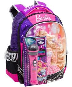 Mochilete Costas Barbie Rock Original Royal Tam M + Brinde