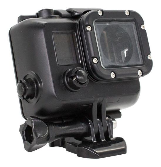 Case Protetora Camera Gopro Modelos 3 / 3+ / 4 E 5 Preta