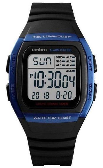Relógio Pulso Digital Umbro Masculino Borracha Water Resist