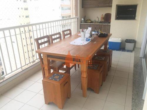 Apartamento Com 3 Dormitórios À Venda, 122 M² Por R$ 1.100.000,00 - Mooca (zona Leste) - São Paulo/sp - Ap3464
