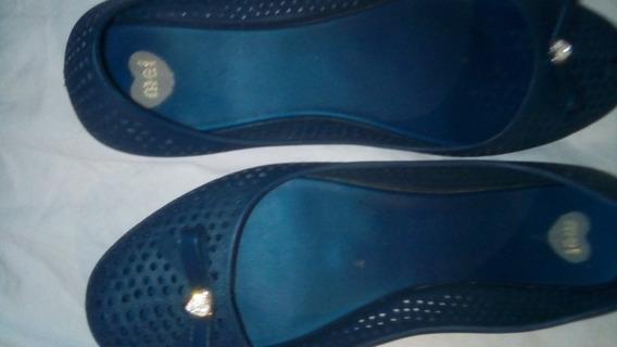 Zapatos Chatitas Melissa Azul Talle 37 Impecable