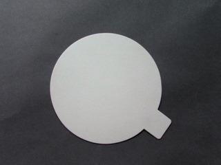 Disco Plastificado Ppm Blanco Mate D. 9cm Con Pestaña (x 100 U.) - Bauletto