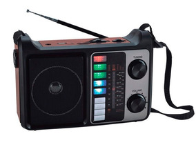 Rádio Fm/am Megastar Rx-446bt Com Bluetooth/usb/lanterna - P