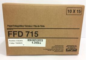 1 Kit 10x15 Ffd715- P/ Impressora Mitisubishi D70 E D707dws