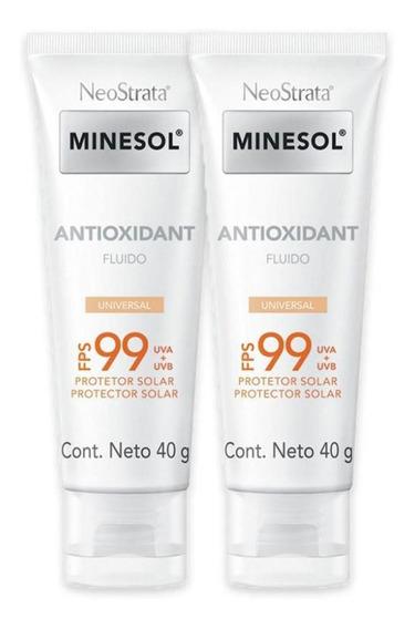 2 Prot Solar Fac Neostrata Minesol Antioxidante Univ 99 40g