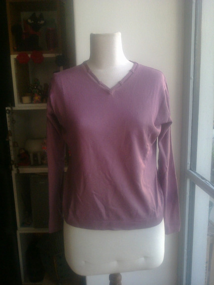 Sweater De Lana Viscosa Color Violeta - Talle M