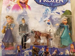 Play Set Frozen X5 Unidades Pvc 14cm Ideal Tortas Muy Buenos