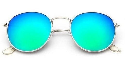 Oculos De Sol Feminino De Moda De Metal Novo Espelhado