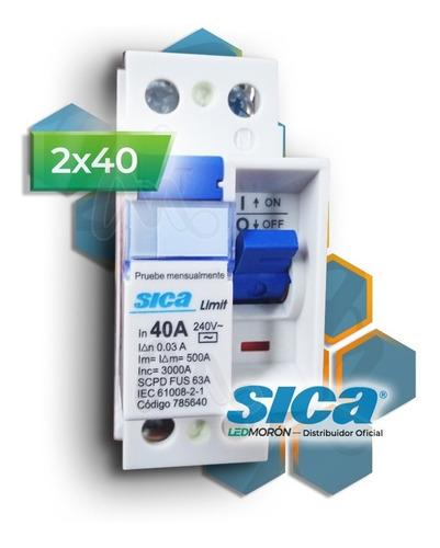 Imagen 1 de 7 de Disyuntor Diferencial Sica Bipolar 2x40 40a 30ma 2 X 40