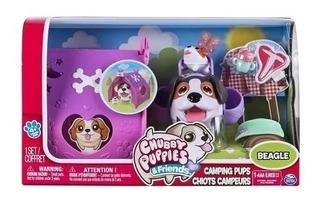 Set De Camping Perritos Que Caminan Chubby Puppies Juguete