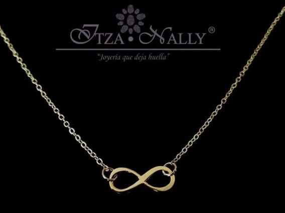 Collar Infinito Chapa De Oro 18k