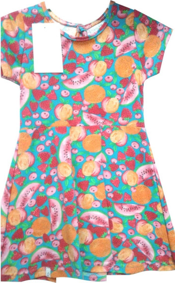 Vestido Nena Carletto Estampado Manga Corta T. 2 A 14 Tutim