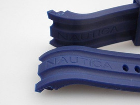 Pulseira Borracha Nautica Bfd100 24mm N15578g Azul