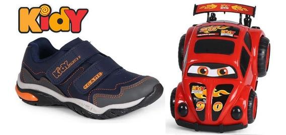 Tênis Infantil Menino Kidy Play Respi-tec + Super Carro