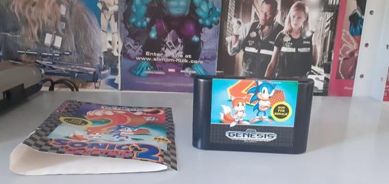 Sonic The Hedgehog 2 - Cartucho + O Encarte Originais