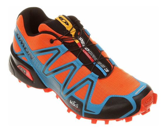 Tênis Speedcross 3 Salomon - Laranja E Azul