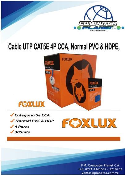 Bobina Cable Utp Cat5e 4p Cca, Foxlux 305 Mts. Tienda Física