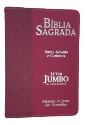 Bíblia Sagrada Com Harpa Letra Jumbo Feminina