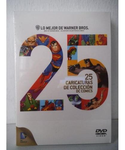 25 Caricaturas De Coleccion Dc Comics Liga La Justicia Dvd