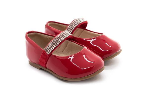Sapatilha Molekinha 2106.167 Vermelha