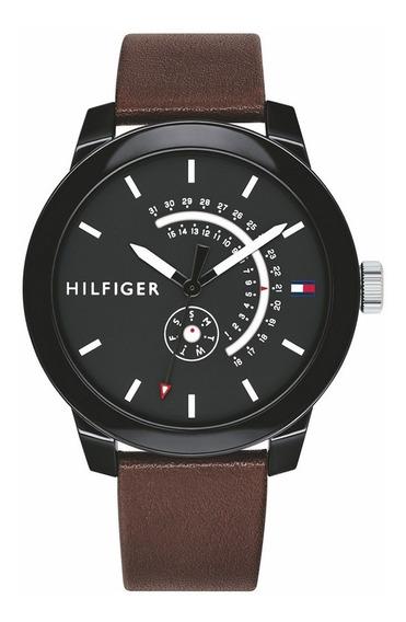 Relógio Masculino Tommy Hilfiger Denim Couro 1791478