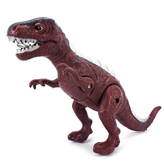 Dinossauro Brinquedo Eletrônico Acende Luz Anda E Faz Som