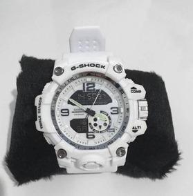 Relógio Branco Esportivo Digital Analógico G-shock Mudmaster