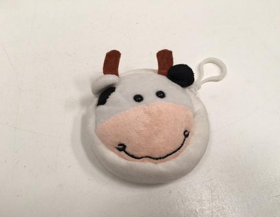 Monedero Llavero Vaca De Peluche