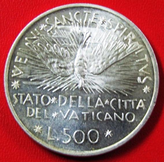 Vaticano Moneda Plata 500 Liras 1978 Unc Km 140 Sede Vacante