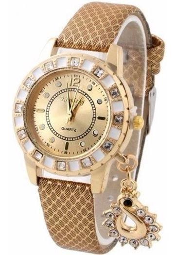 Relógio Feminino Com Pingente + Caixa Promoção Mulher