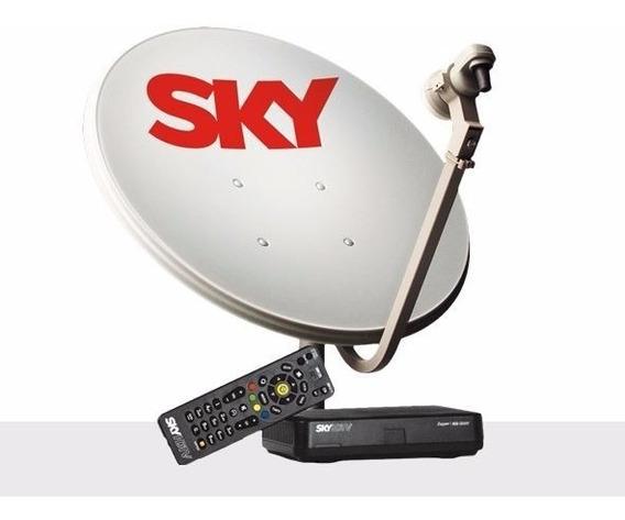 Kit Sky Pré Pago Flex Hd Zapper + Recarga Digital 30 Dias