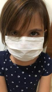 Caixa Mascara Descartavel Infantil Com Clip Nasal 100 Uni