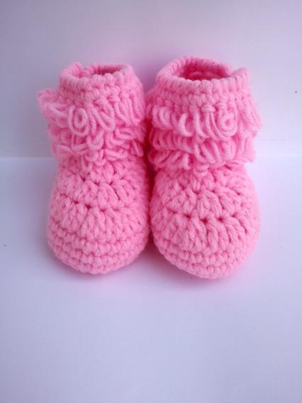 Botas Crochet Para Bebe Tejido A Mano